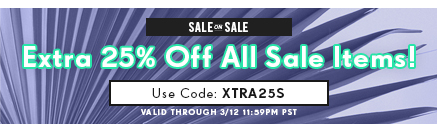 Sale on Sale: Extra 25% Off Sale Items!