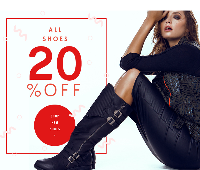 All Shoes 20% off. Shop New Shoes