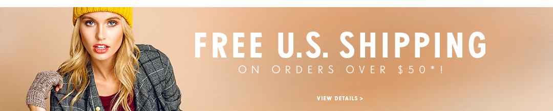 Free U.S. Shipping on orders over $50!