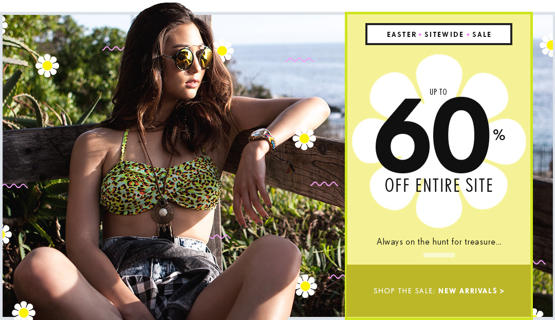 EASTER SITEWIDE SALE: Up to 60% off entire site!