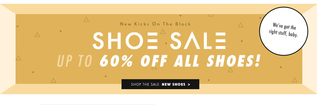 Shoe Sale: Up to 60% Off!
