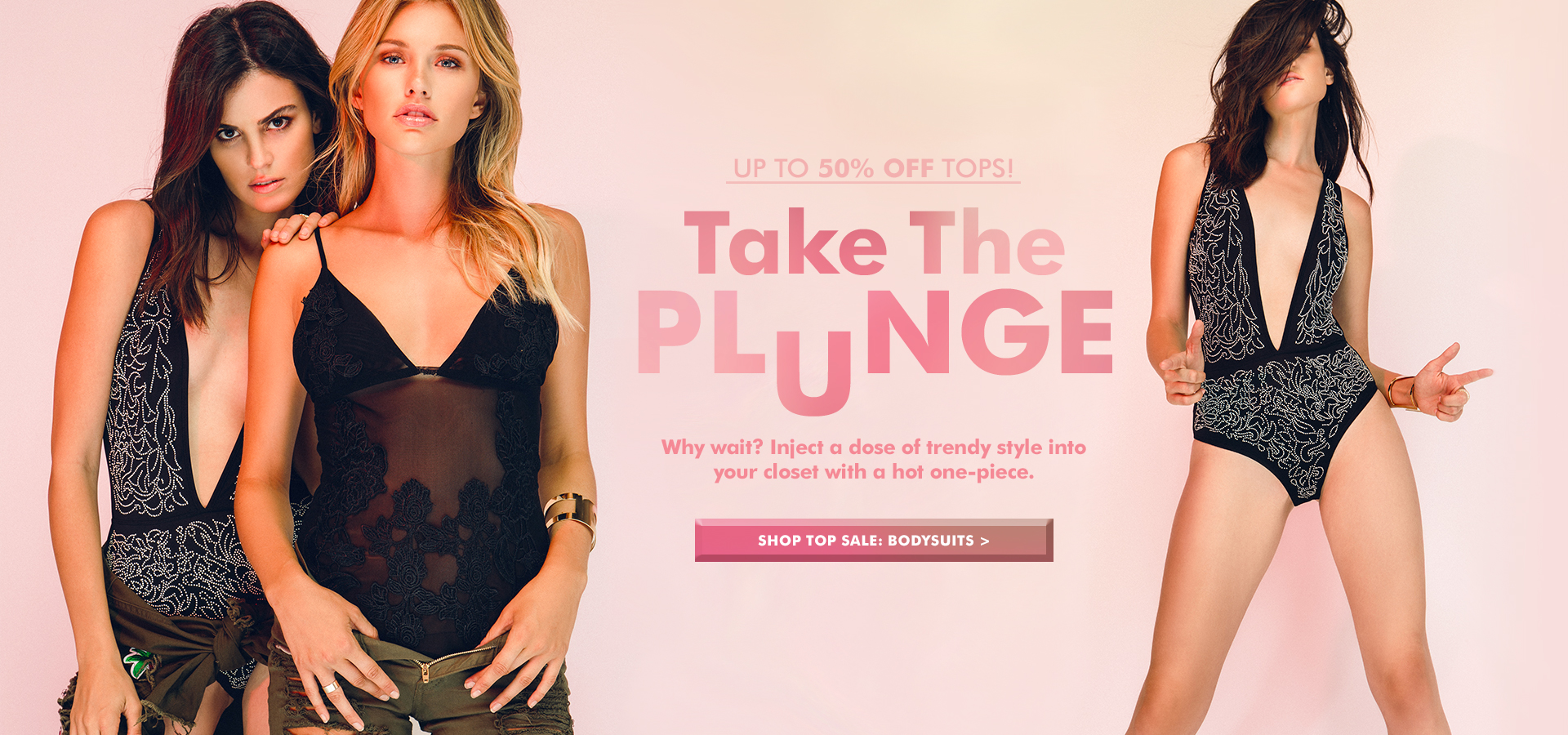 Up To 50% Off All Tops/ Shop Bodysuits
