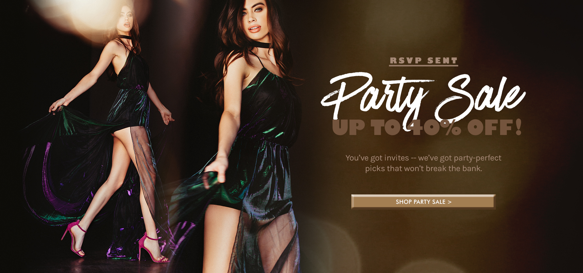 PARTY SALE UP TO 40% OFF