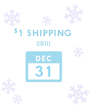 $1 Shipping Until Dec 31st!
