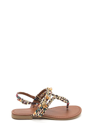 Keep The Chain-ge Floral Sandals