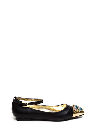 Twinkle Toe Jeweled Pointy Flats