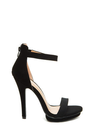 Step On It Open-Toe Platform Heels