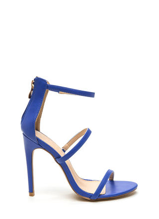 Strappy Life Single-Sole Heels