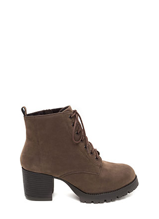 Outdoor Adventures Faux Nubuck Booties