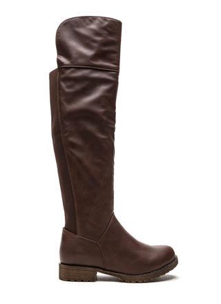 Ground Up Faux Leather Boots