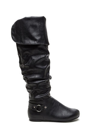 Cuff Love Slouchy Faux Leather Boots