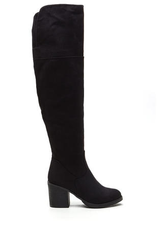 Notch Above Chunky Faux Suede Boots