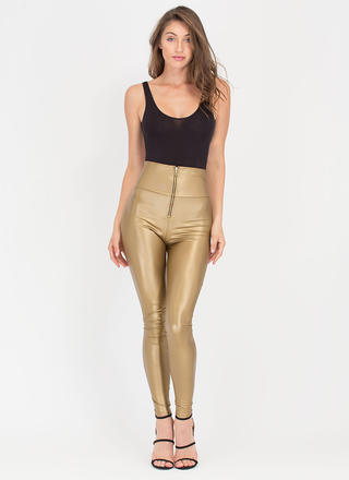 Zip Zip Hooray High-Waisted Leggings