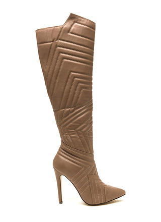 Quilted Wonder Faux Leather Boots