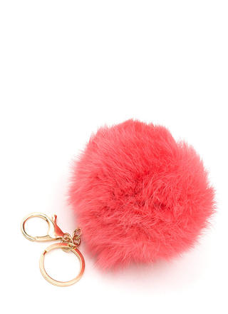 Fuzz Ball Fur Keychain