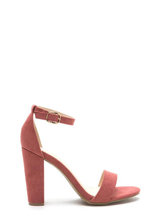 All's Fair In Fashion Faux Suede Heels