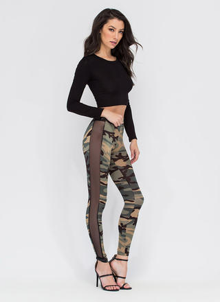 Style Captain Sheer 'N Camo Leggings