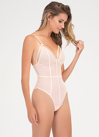 It's A Secret Sheer Bodysuit