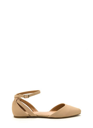 Point Taken Faux Nubuck D'Orsay Flats