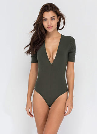 Keep It Close Plunging Bodysuit