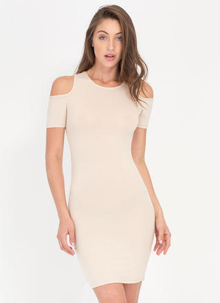 Catch Some Rays Cold Shoulder Minidress