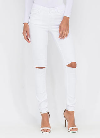 Slit To Be Tied Jeggings