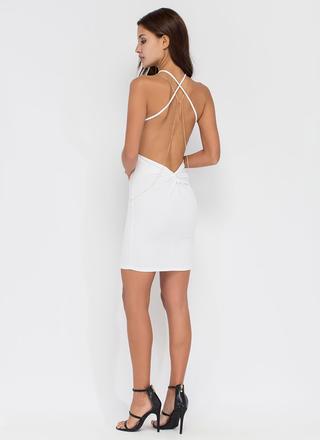Easy To Be Knotty Open Back Minidress