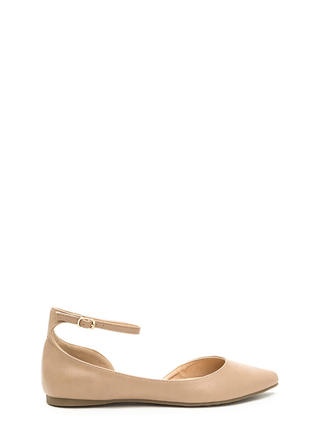 Make It A Point Faux Leather Flats