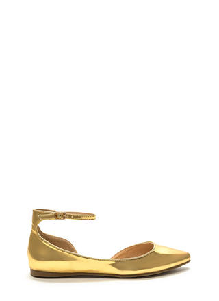 Make It A Point Metallic Flats