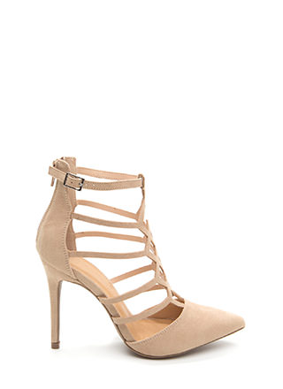 Cut-Out Above The Rest Caged Heels