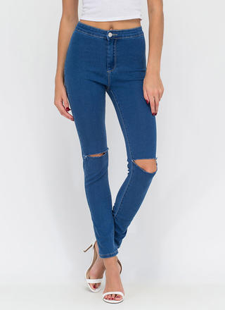 Slits Easy High-Waisted Jeggings