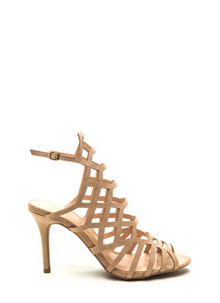 Call Me Honey Cut-Out Caged Heels