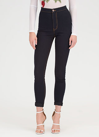 Hourglass Figure High-Waisted Jeans