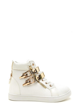 Plate Date Scaled High-Top Sneakers