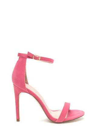 Keyhole To My Heart Faux Suede Heels
