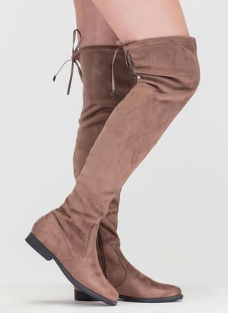 Heart String Thigh-High Drawstring Boots
