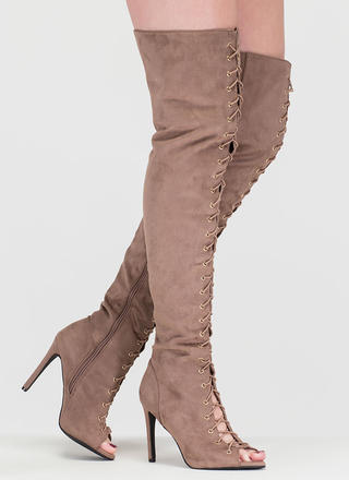 True Story Over-The-Knee Laced Boots