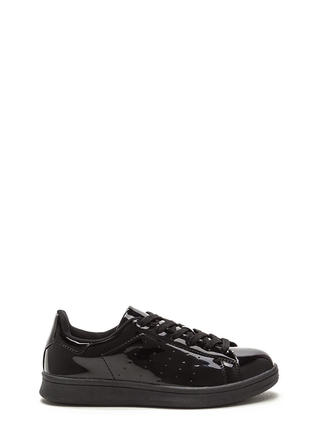 Sole Seeker Faux Patent Leather Sneakers