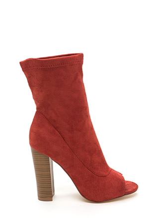 Let It Be Chunky Peep-Toe Booties