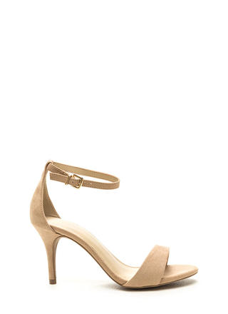 It Girl Classic Faux Suede Heels