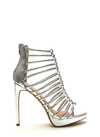 Irresistible Caged Metallic Heels