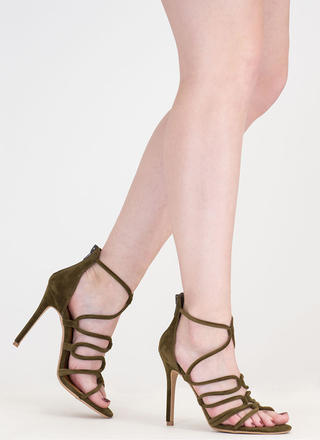 Loop There It Is Caged Stiletto Heels
