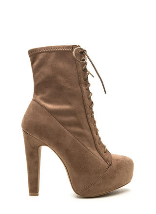 Take Names Lace-Up Platform Booties