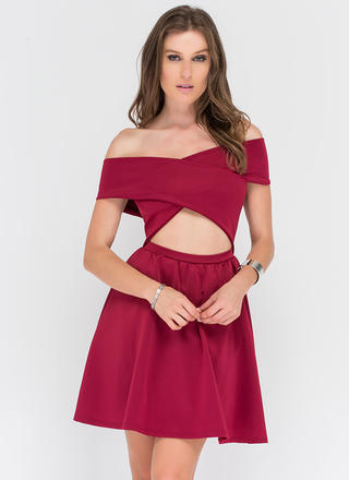 Solar Flare Off-Shoulder Minidress