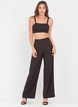 Pop Star Crop Top 'N Palazzo Pants Set