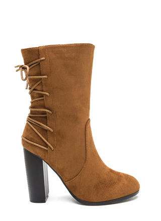 Haute Outlook Chunky Lace-Back Booties