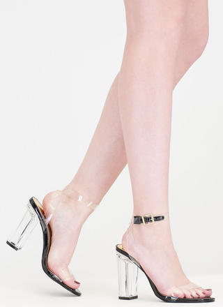 Clear And Present Danger Chunky Heels