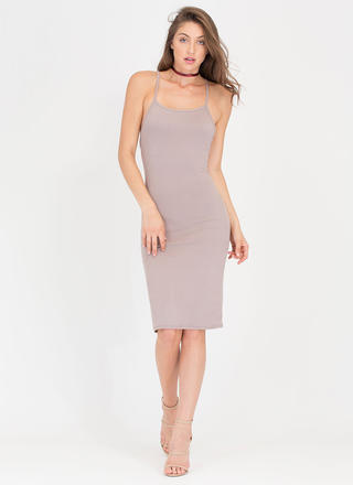 U Gotta Have It Open Back Midi Dress