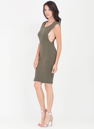 Sides You Up Muscle Tee Midi Dress
