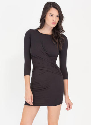 Wrap Genius Drape Front Minidress